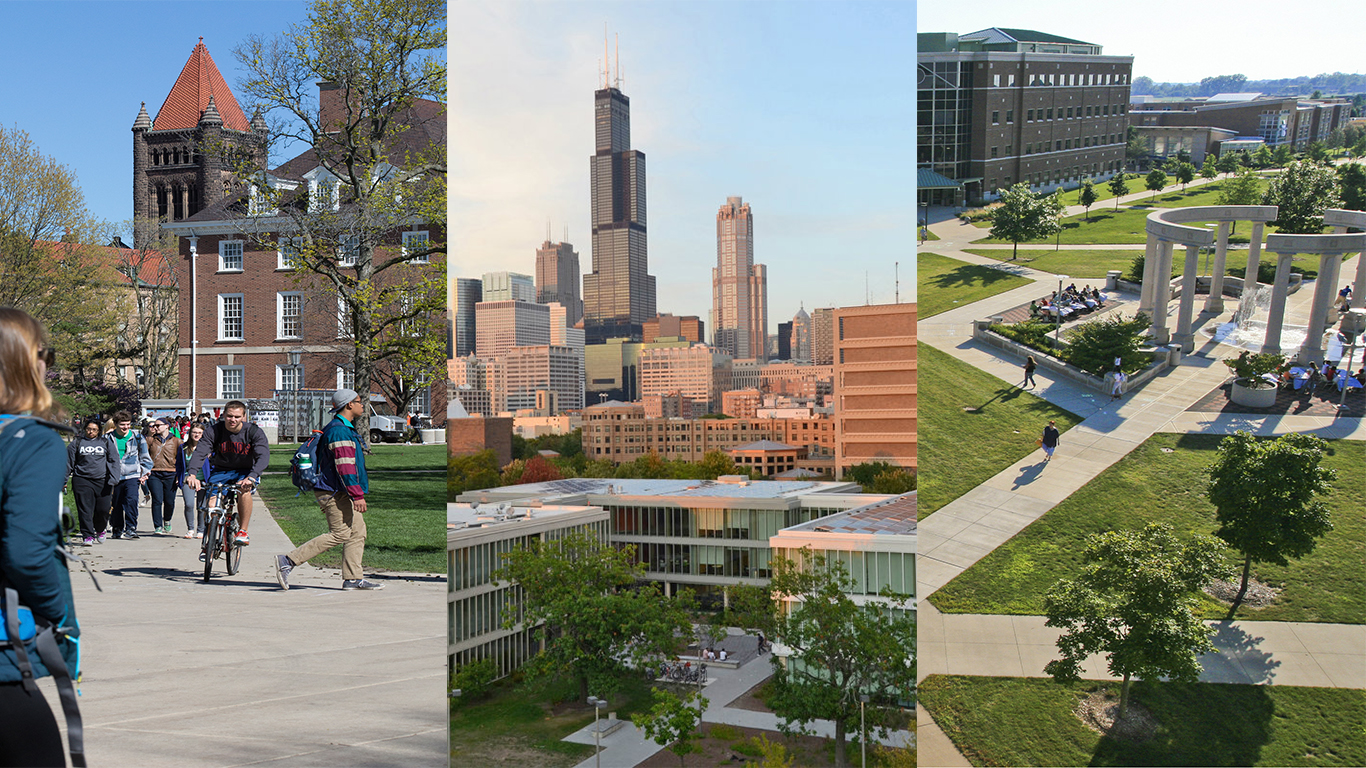 Images of the University of Illinois System Universities